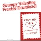 My Grumpy Valentine: a FREE Download for you!