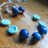 She's Crafty: Ceramic Bead & Button Necklace & Earrings