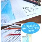 Truck Art - my latest printable coloring book