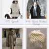 Accessories to keep you warm: shawls, sweaters, capes & shrugs