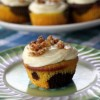Recipe: Squash and Chocolate Swirled Cupcakes with Orange Cream Cheese Frosting & Candied Pecans