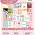 Lovely Print-It-Yourself Booklet: 30+ print-it-yourself project from 17 artists