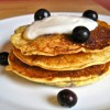 Blueberry, Orange, and Cornmeal Pancakes