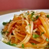 Linguine with Slow Roasted Tomatoes and Garlic