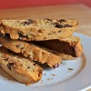 Pecan and Chocolate Biscotti with Bourbon-Soaked Cherries