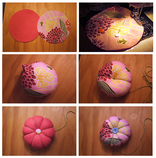 Tuesday tutorial fabric pincushion indie fixx - Comment faire un coussin capitonne ...