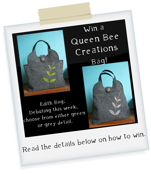 I'm all abuzz win the newz: win an 'Edith' bag from Queen Bee Creations