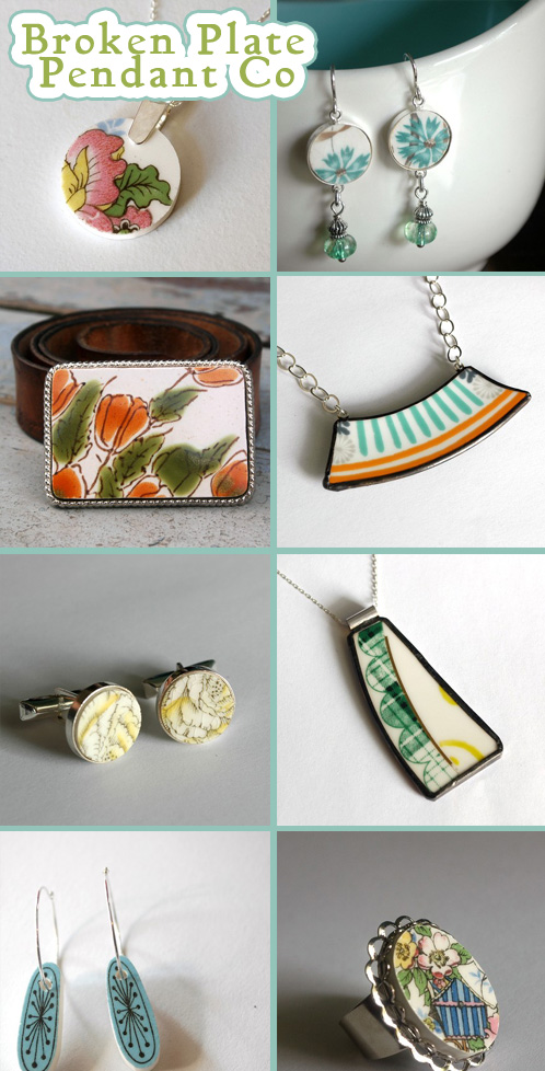 12 Days of Indie Holiday Shopping 2009 – Broken Plate Pendant Co.