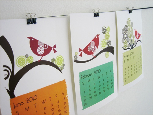 Handmade Calendar Design : Handmade holidays printable calendars a great last minute