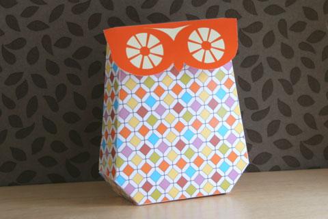 owl gift box free printable