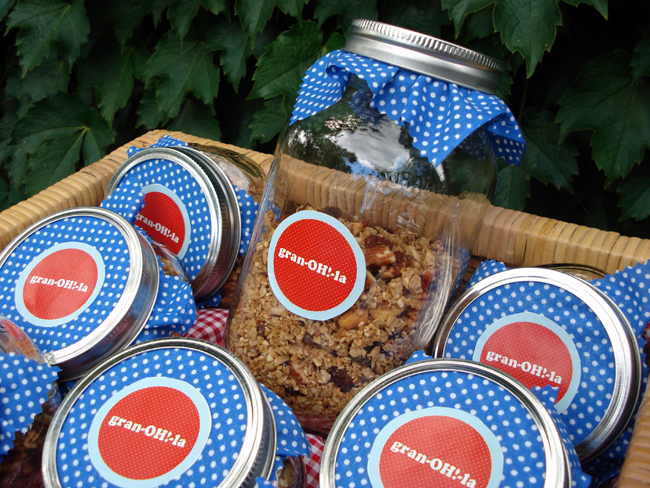 printable DIY granola gift labels
