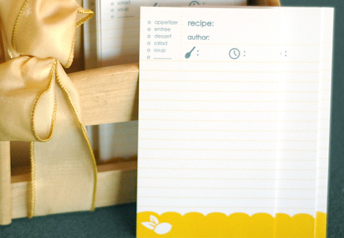lemon free diy printable recipe cards