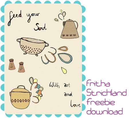 feed your soul free art printable download