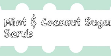 coconut mint scrub
