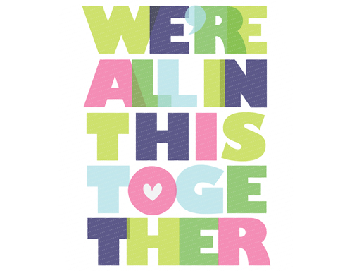 we're all in this together printable poster