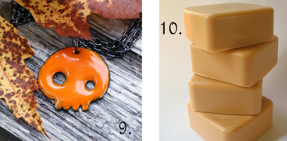 halloween skull and pumpkin soap