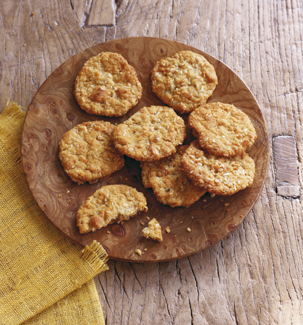 The wholesome kithcen Anzac Cookies recipe