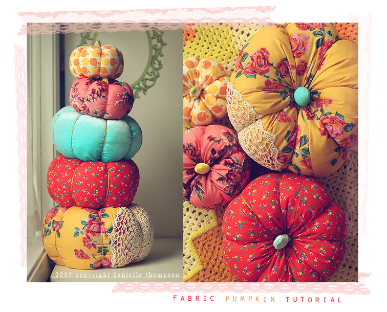 Fabric Pumpkin thansgiving decor - thompson family life