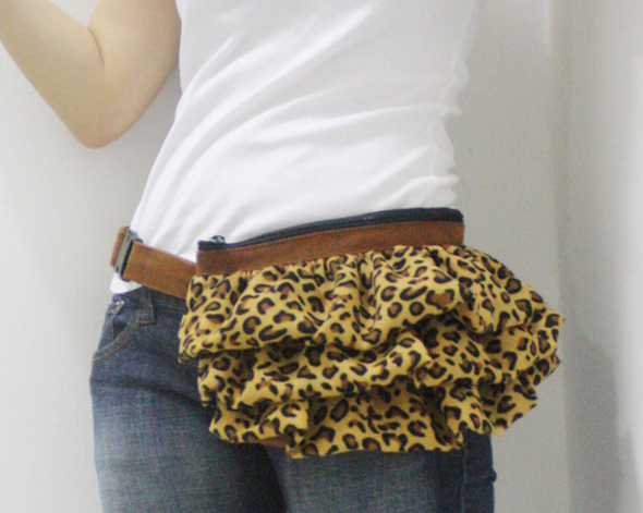 cheetah brown waist purse accessory by kinies