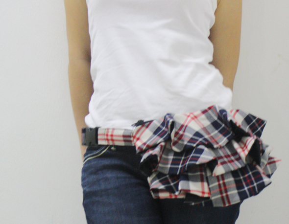 plaid waist purse accessory by kinies