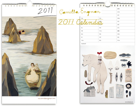 camilla engman 2011 illustrated calendar