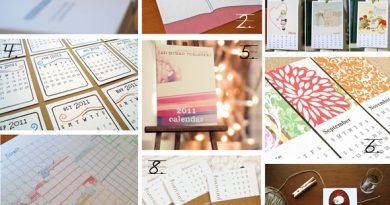 2011 illustrated, letterpress and art calendars