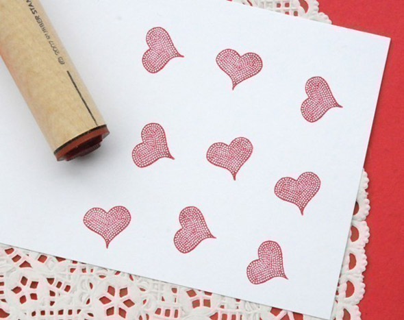 "Cobblestone Heart Rubber Stamp by normajane - ""creative tithing"""