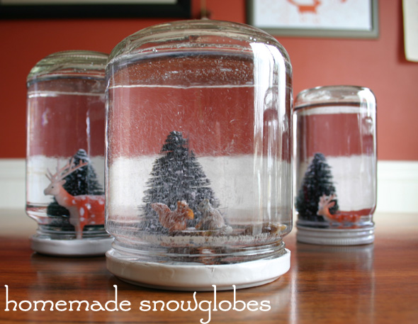 Handmade Holidays: homemade snow globes