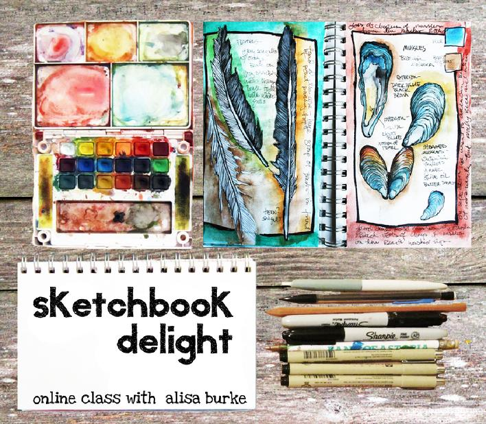 sketchbook delight art class with artist alisa burker