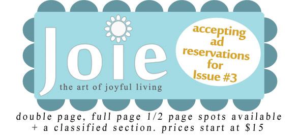 advertising joie magazine