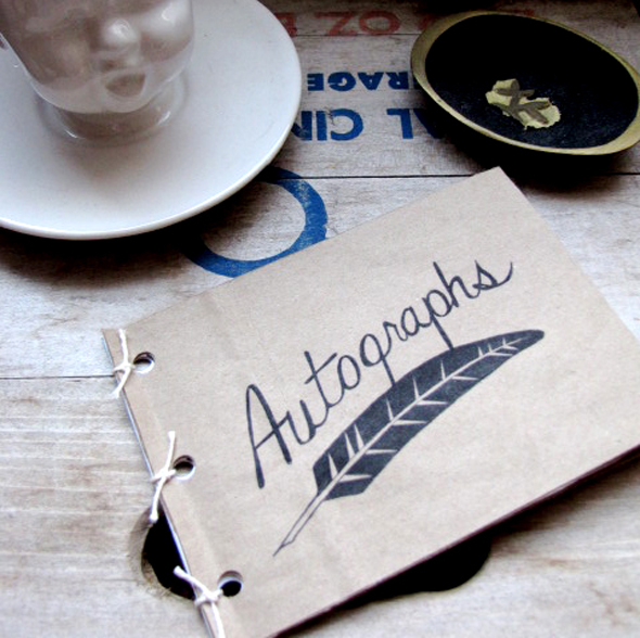 printable autograph book