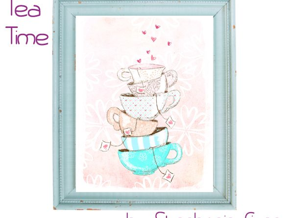 tea time - free print-it-yourself art print