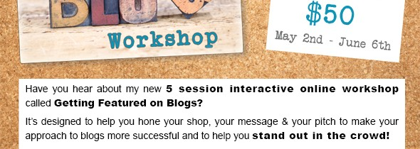 Getting Featured on Blogs Online Workshop