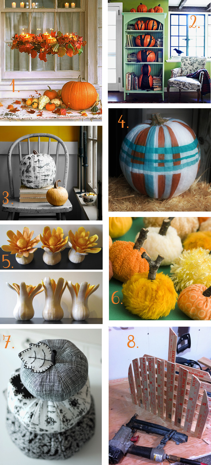 Pumpkin Decorating: alternatives to pumpkin carving