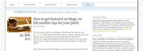 I'm blogging at Vianza.com