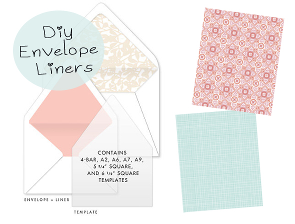 Envelope Liner Template Envelope Liner Template Floral Kraft