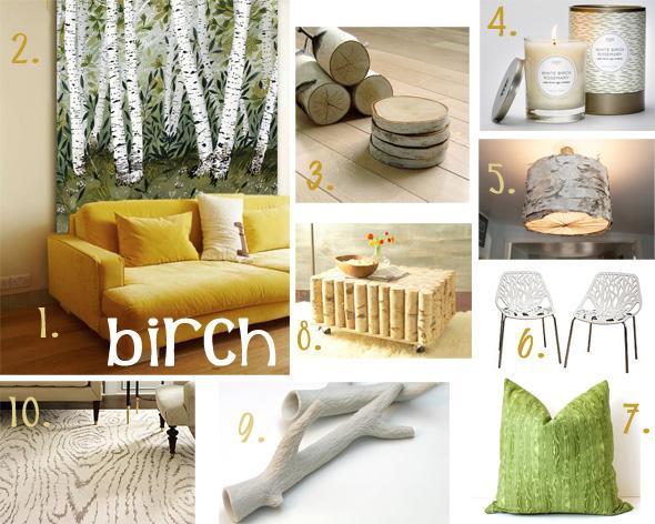 Birch Inspired Home Decor