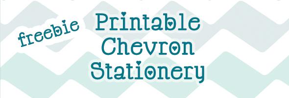 Free Print-it-Yourself Chevron Stationery - Indie Fixx