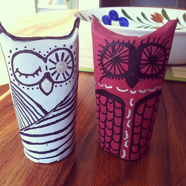Toiletpapertubeowls8 indie fixx for Toilet paper tube owls