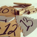 Clothespin and Ribbon Advent Calendar