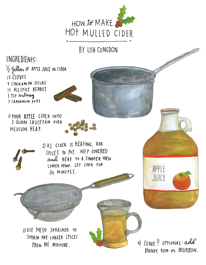 Mulled cider illo from Lisa Congdon.