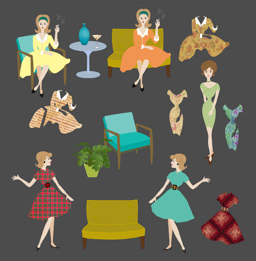 mad men paper dolls lo