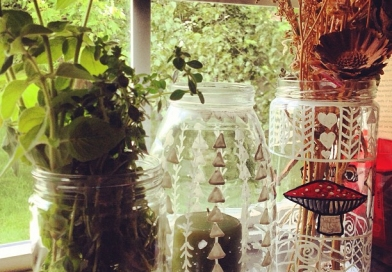 Look at What I Made – DIY Etched Glass and Stained Glass Containers
