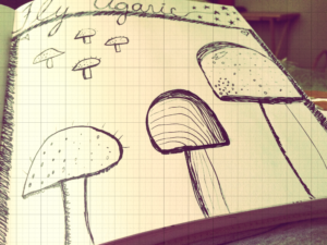 Sketchbook drawings.