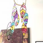 DIY Faux Feather Mobile to Decorate Your Space